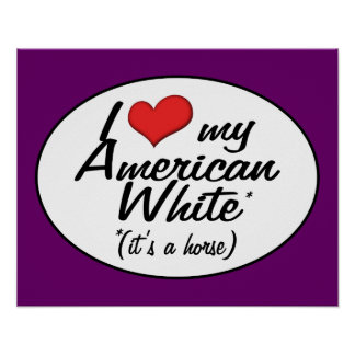 It's a Horse! I Love My American White Poster