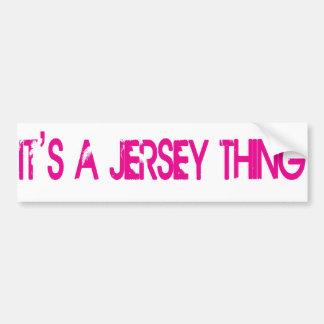 It's a Jersey Thing Bumper Sticker