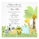It's A Jungle Baby Animails Baby Shower Invitation