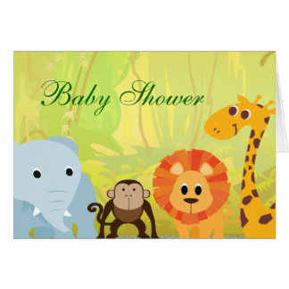 It's A Jungle Baby Shower Note Card