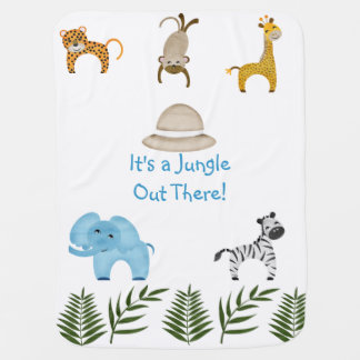 It's a Jungle Out There! Receiving Blanket