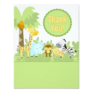 It's A Jungle Thank You Card