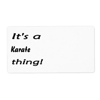 It's a karate thing! custom shipping labels