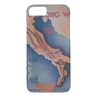 It's a Long Way to Rome - Propaganda Poster iPhone 7 Case