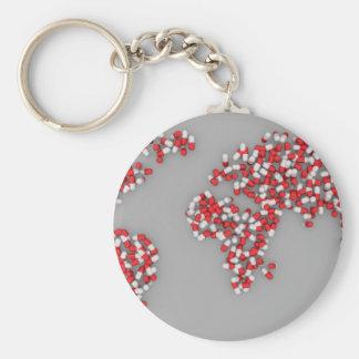 It's a map ,it's an alien ,it's a group of dots... basic round button keychain