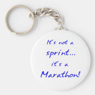 It's a Marathon - blue Key Chain