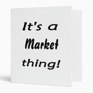 It's a market thing! vinyl binders