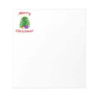It's a Merry Christmas tree! Notepad