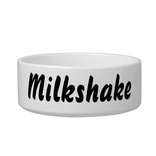 It's a milkshake thing! cat food bowl