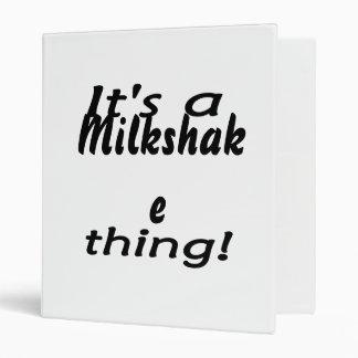 It's a milkshake thing! vinyl binder