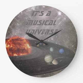 It's a Musical Universe Large Clock