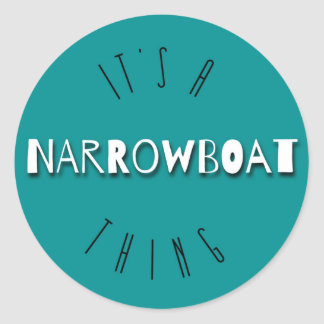 It's A Narrowboat Thing Round Stickers