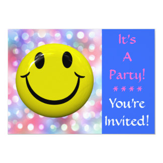 It's A Party! Happy Face Invitation