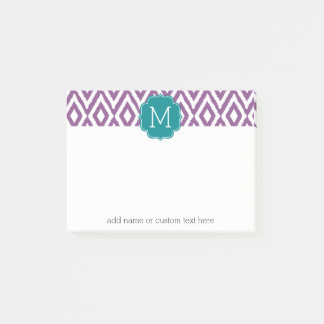It's a Party - Ikat Pattern with Custom Monogram Post-it Notes