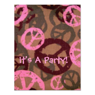 It's A Party!-Peace Signs Design-Invite Card