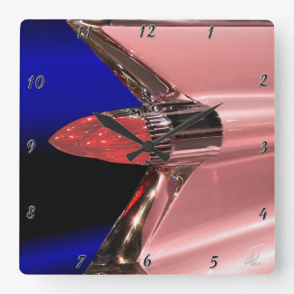It''s a Pink Caddie Square Wall Clock