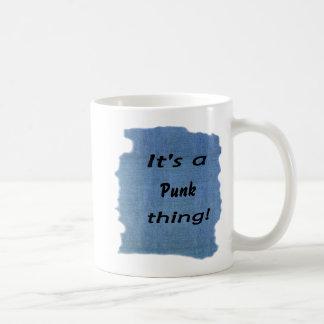 It's a punk thing! coffee mug