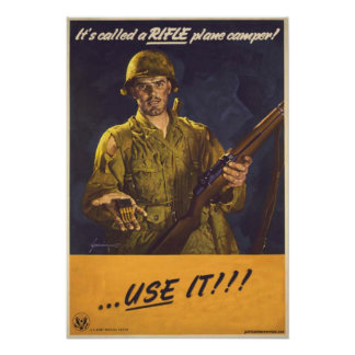Its a rifle poster