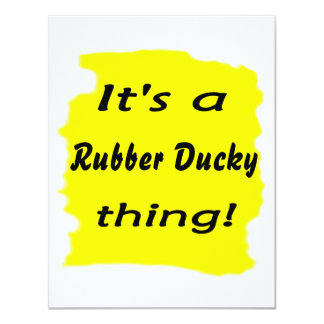 It's a rubber ducky thing! personalized invitation