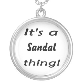 it's a sandal thing! personalized necklace