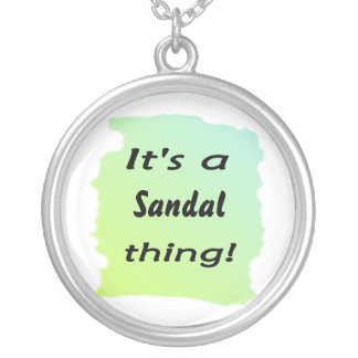 it's a sandal thing! round pendant necklace