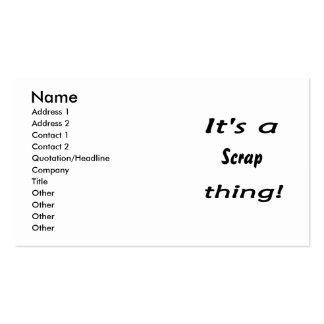 It's a scrap thing! pack of standard business cards
