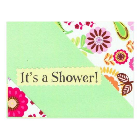 Its a Shower postcard