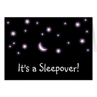 It's a Sleepover! card
