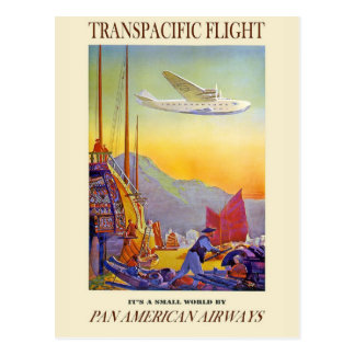 Its A Small World By Pan American Airways Postcard