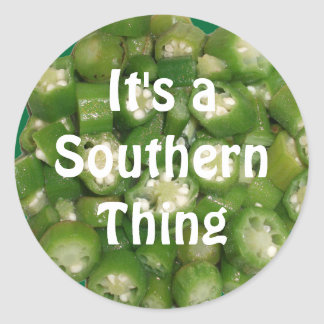 """It's a Southern Thing"" Okra Stickers"
