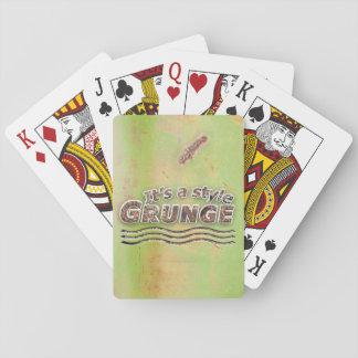 It's A Style GRUNGE Rusty Letters Poker Deck