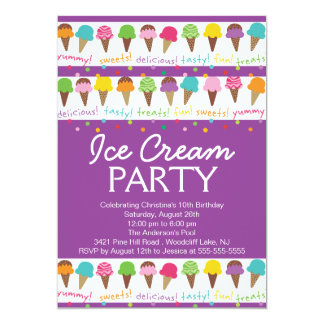 It's a Summer Ice Cream Party Invitation