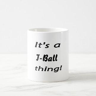 It's a t-ball thing! coffee mug