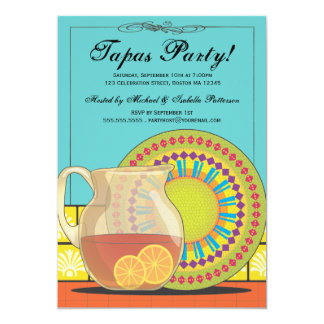 It's a Tapas Party! Happy Fiesta Invitation