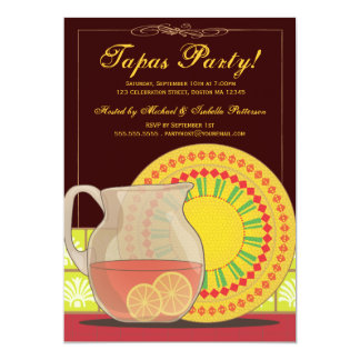 It's a Tapas Party! Happy Hour Invitation