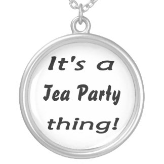 It's a Tea Party thing! Silver Plated Necklace