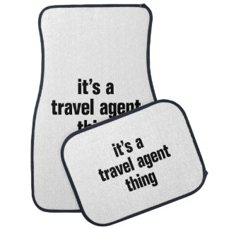 its a travel agent thing car floor carpet