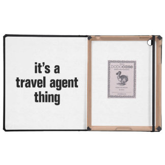 its a travel agent thing iPad folio cover