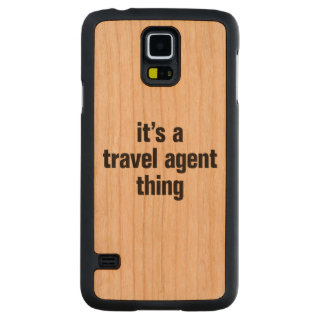 its a travel agent thing carved® cherry galaxy s5 slim case