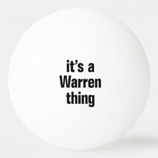its a warren thing ping pong ball