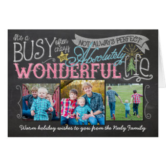 It's a Wonderful Life Chalkboard Holiday Card