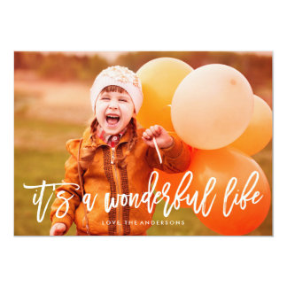 It's a Wonderful Life Christmas Photo Card