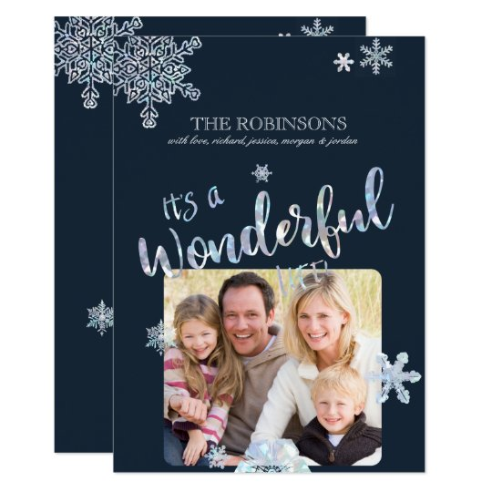 Its a Wonderful Life Christmas Photo Card