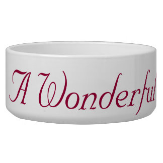 It's A Wonderful Life Dog bowl