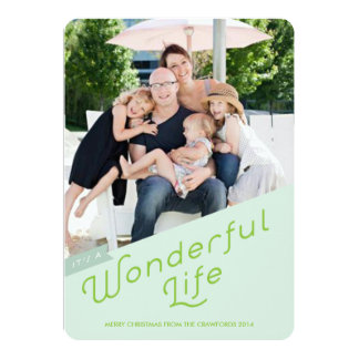 It's a Wonderful Life Holiday Greeting Card Personalized Announcement