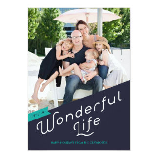 It's a Wonderful Life Holiday Greeting Card Personalized Invitations