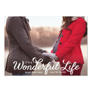 It's a Wonderful Life Holiday Photo Card