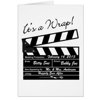 It's a Wrap - Movie Wedding Thank You Card