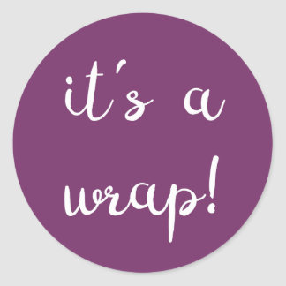 It's a wrap! Purple Sticker