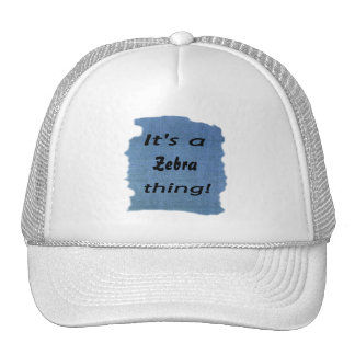 It's a zebra thing! mesh hat